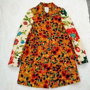 RARE Anthropologie Elevenses Leopard Lily Coat